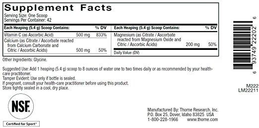 Cal-Mag Citrate powder ingredients