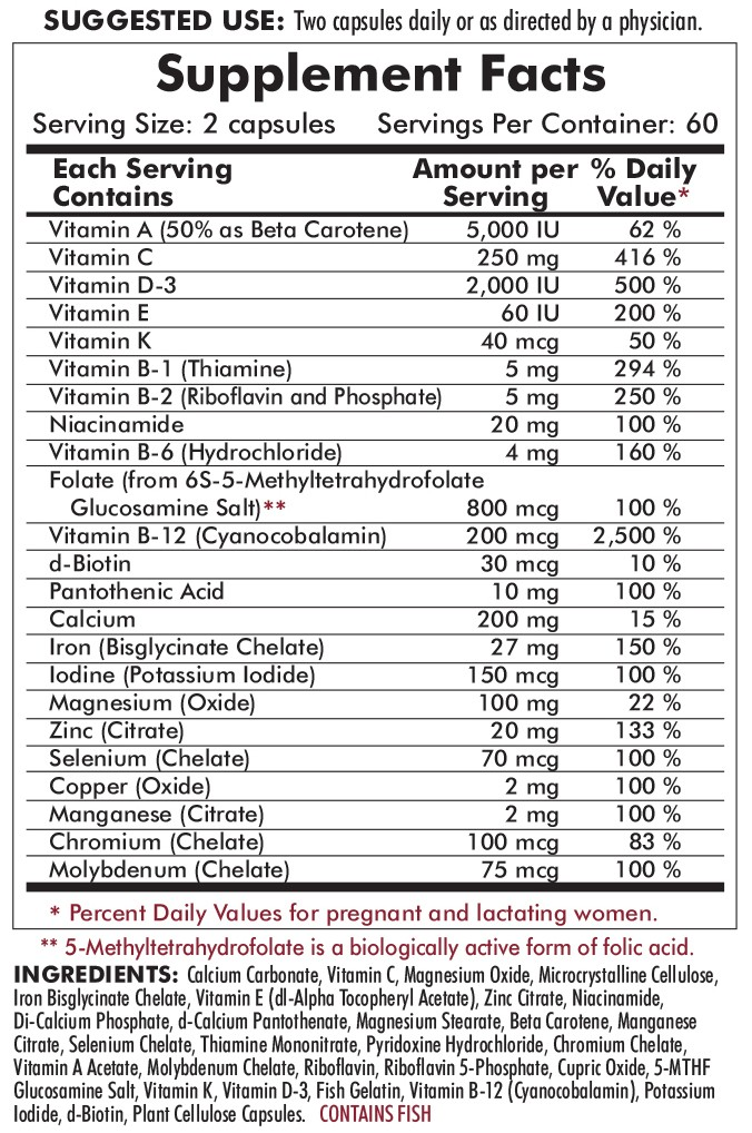 P2i Baby Prenatal Advanced Care ingredients
