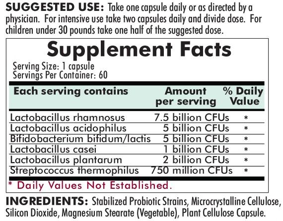 Pro-Bio Gold 60ct ingredients
