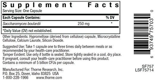 Sacro-B ingredients